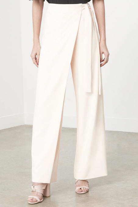 Wrap Over Trousers in Pink Sand