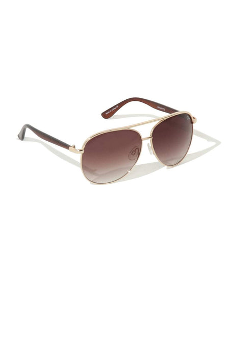 Macaw Gold Metal Aviator Sunglasses