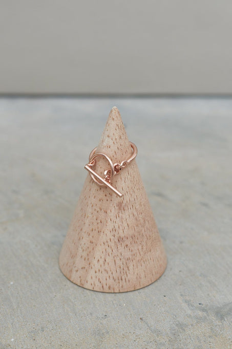 Link-Up Ring in Rose Gold-Plated Sterling Silver