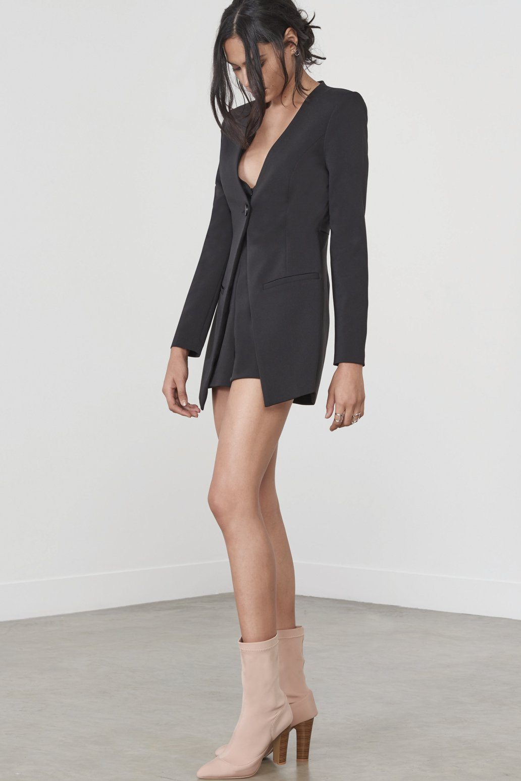 Blazer Playsuit in Black