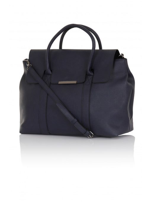 Navy Structured Oversized Tote Bag
