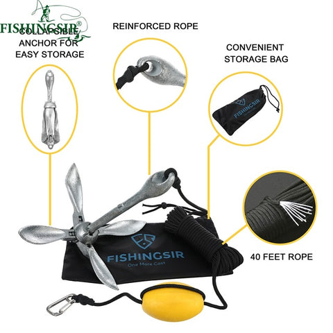 FishingSir Complete Folding Anchor System