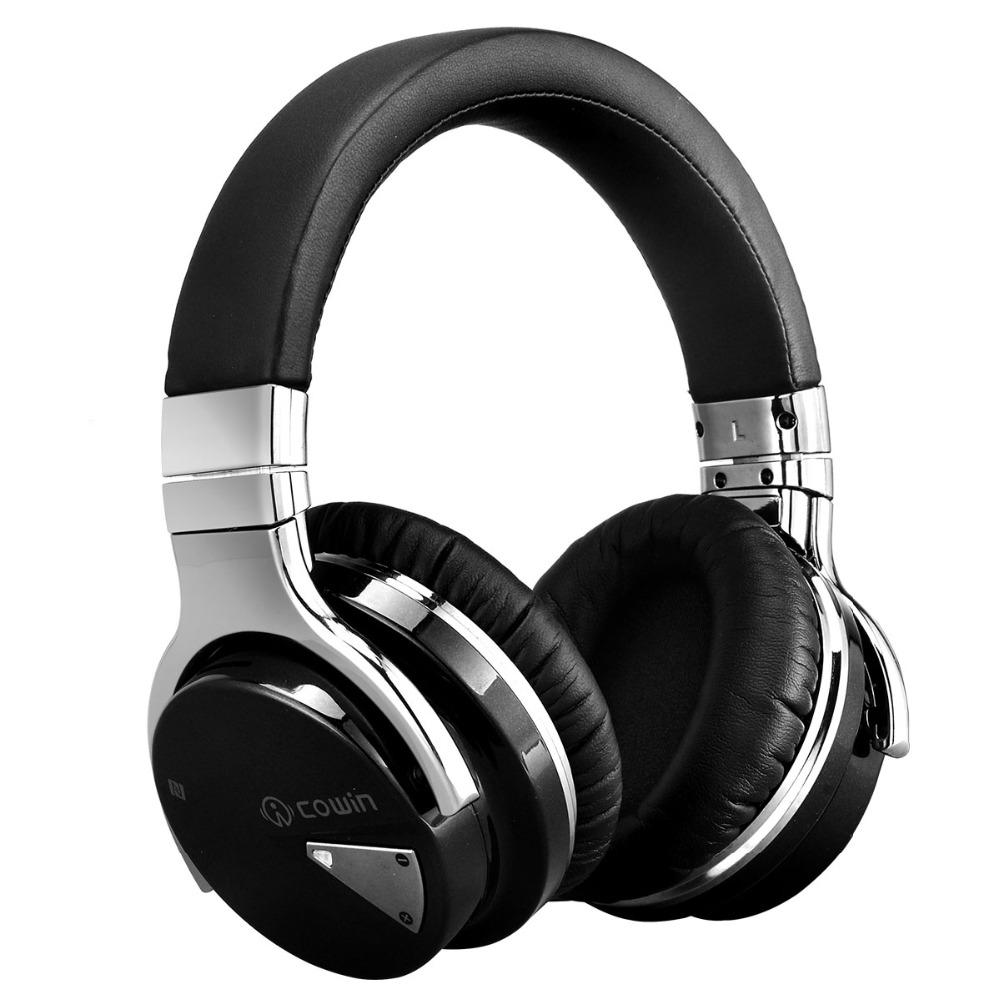 Black and silver professional studio Bluetooth headphones.