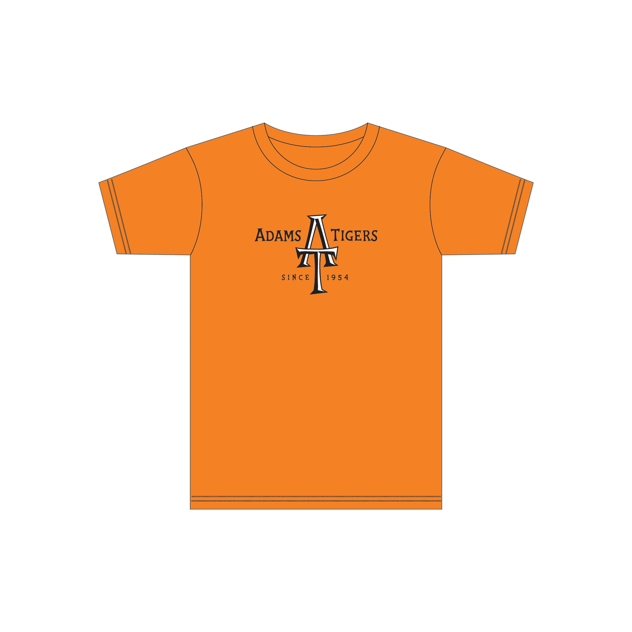 Adam's Orange Adult Cotton Tee