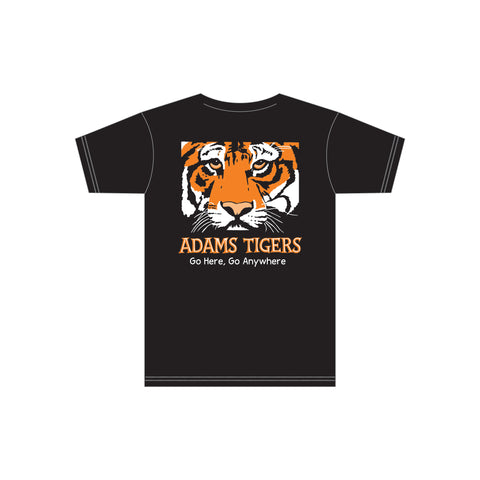 Adam's Black Adult Cotton Tee