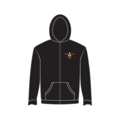 Adam's Youth Zip Black Hoodie
