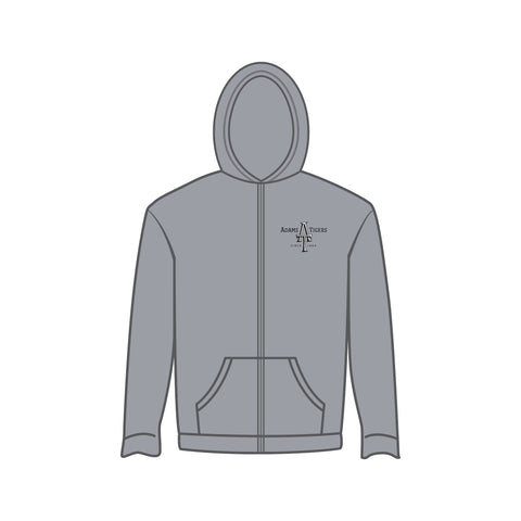 Adam's Youth Zip Grey Hoodie