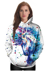 Sweat Shirt Licorne Artistique