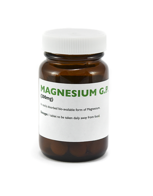 Magnesium Glycerophosphate. Magnesium Glycerophosphate an easily absorbed form of this essential trace element which can aid sleep, assist with fatigue conditions and in some cases can lower blood pressure.