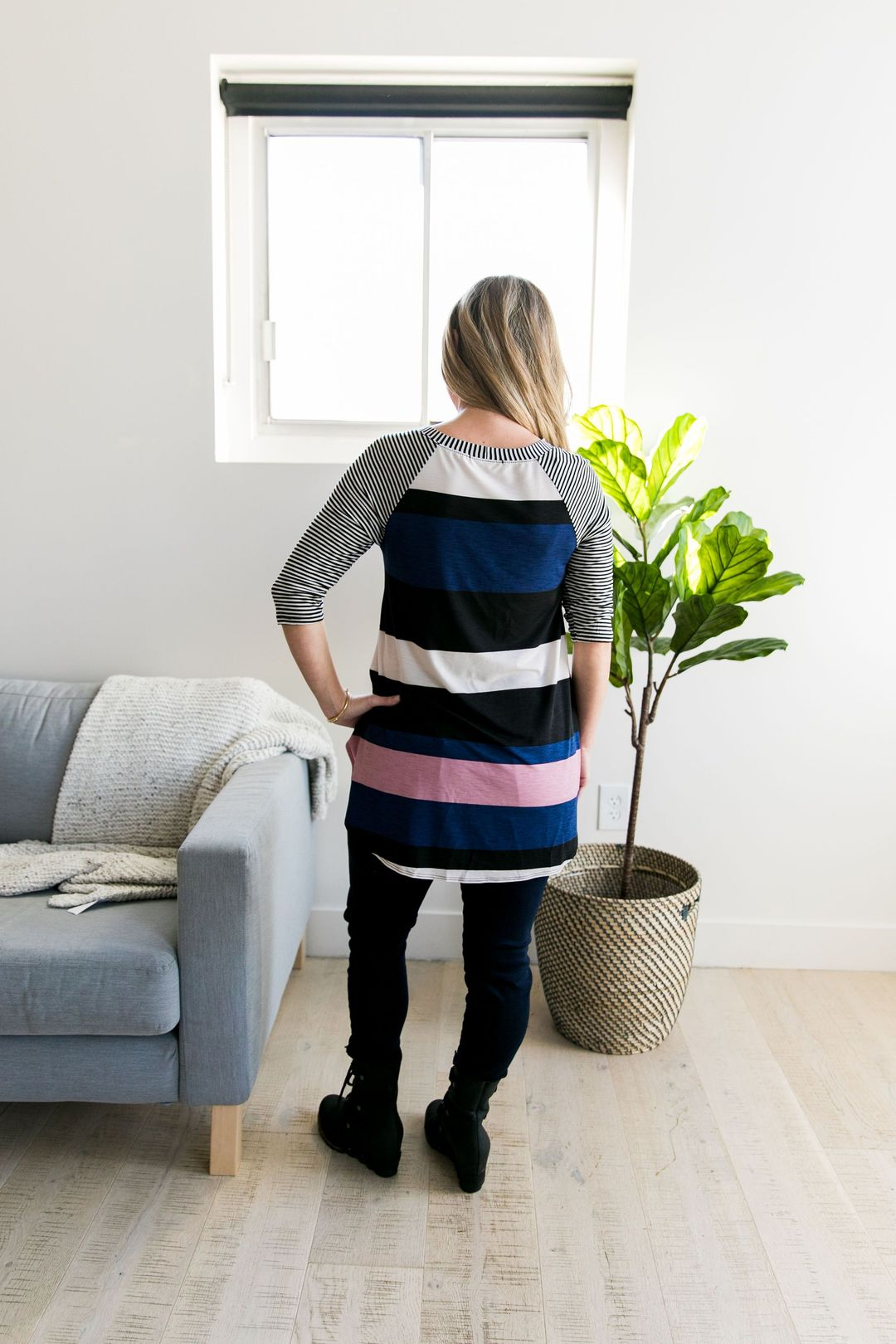 Alice Multi-Striped Raglan Tunic