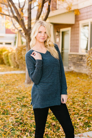 At Ease Charcoal Tunic