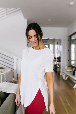 Split Hem Athleisure Top