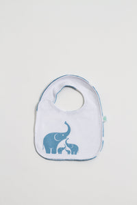 Coastal Blue Elephant Reversible Bib