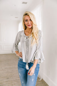 Belmont Tassel Tie Top - ALL SALES FINAL