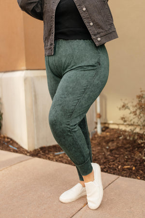 Cozy Joggers in Hunter Green