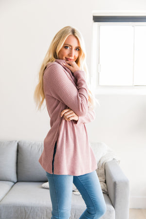 Isn't She Lovely Mauve Waffle Knit Top - ALL SALES FINAL
