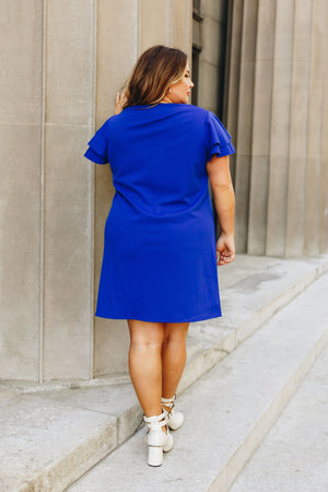 Look Like Royalty Dress In Royal Blue
