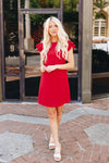 Look Like Royalty Dress In True Red