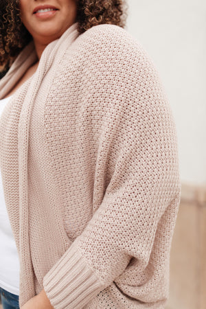 Not Your Grandmother's Cardigan in Beige