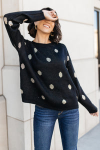 Polka Dots and Knit Sweater