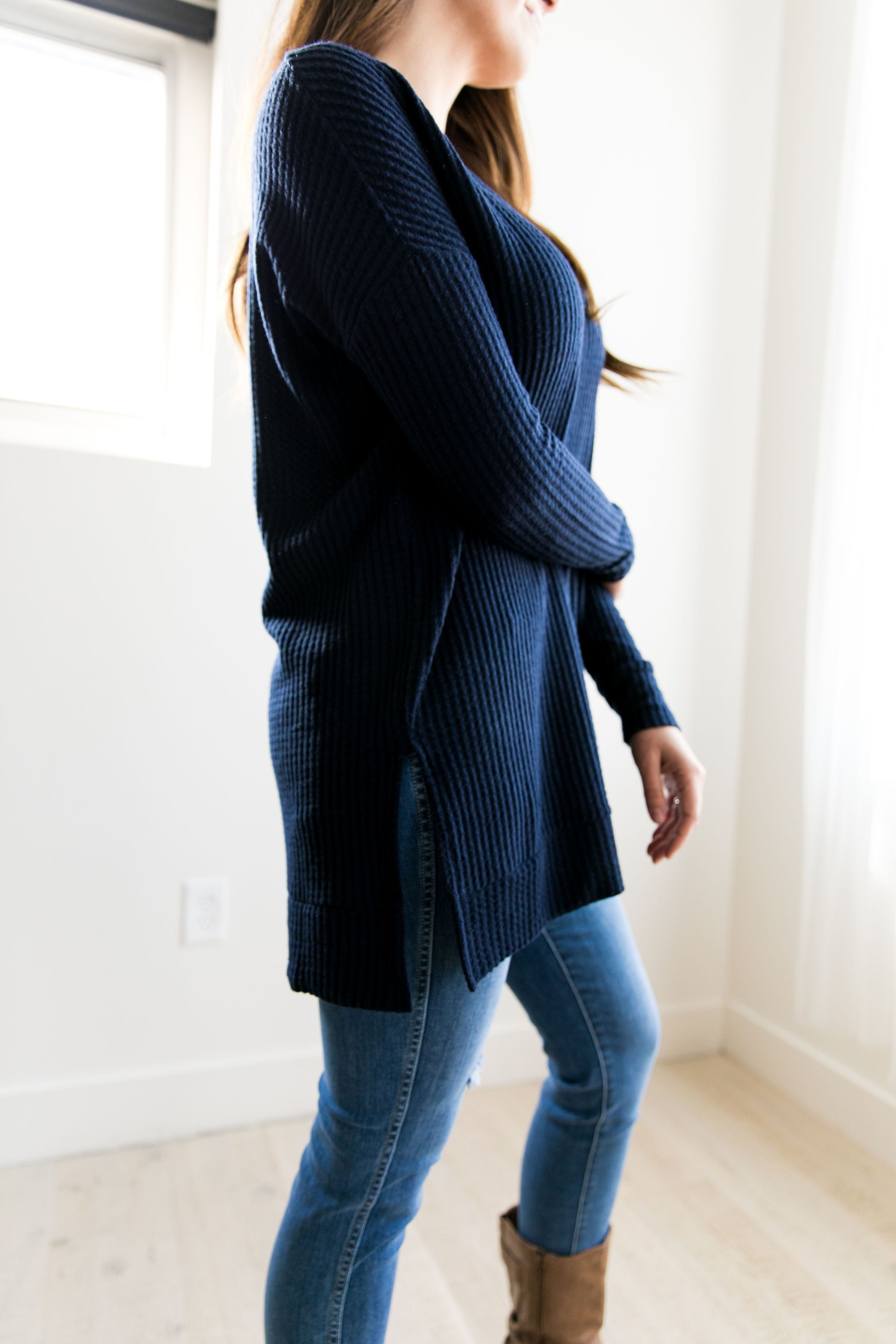 Thermal Tunic In Navy - ALL SALES FINAL