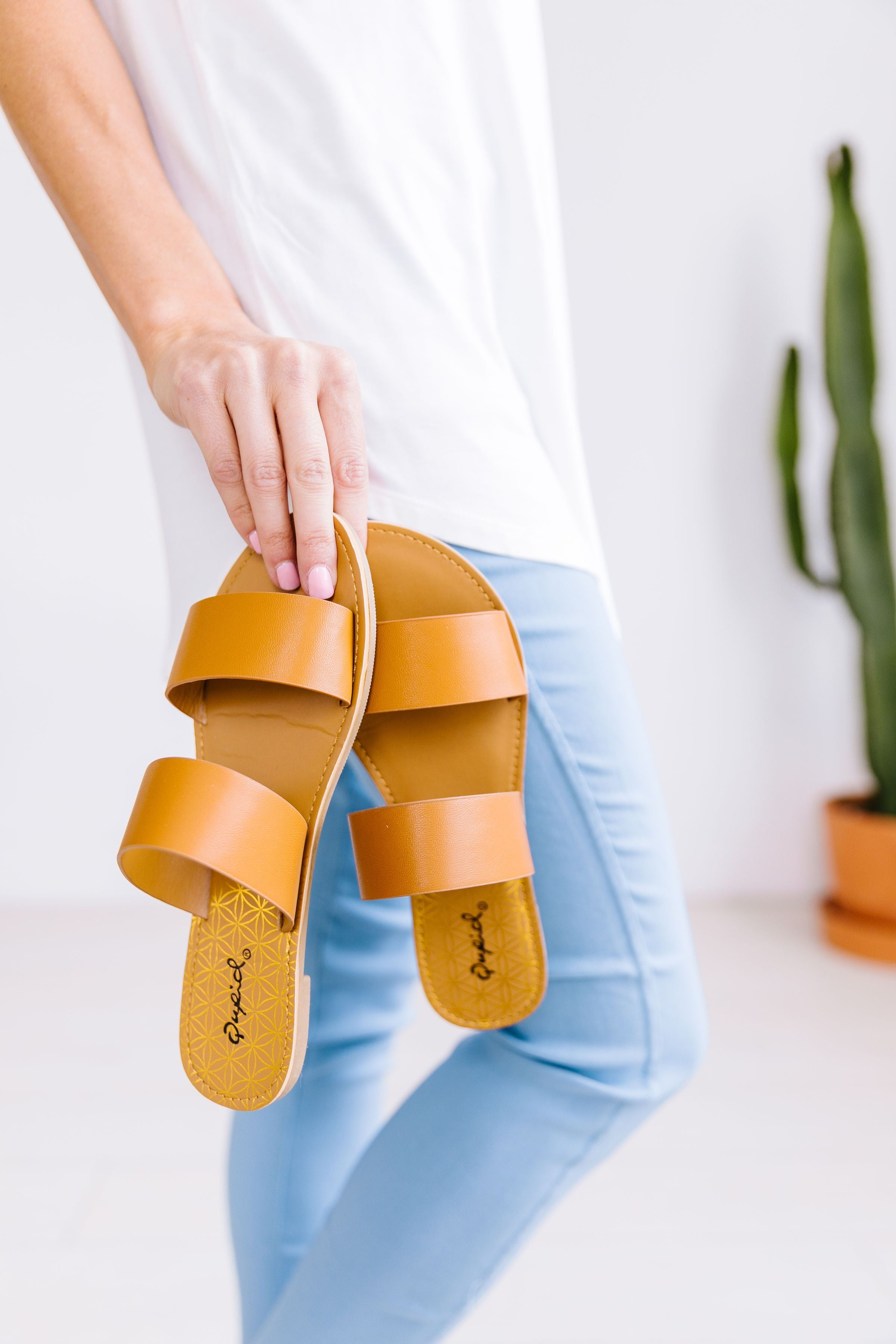 Double Time Sandals In Camel - ALL SALES FINAL