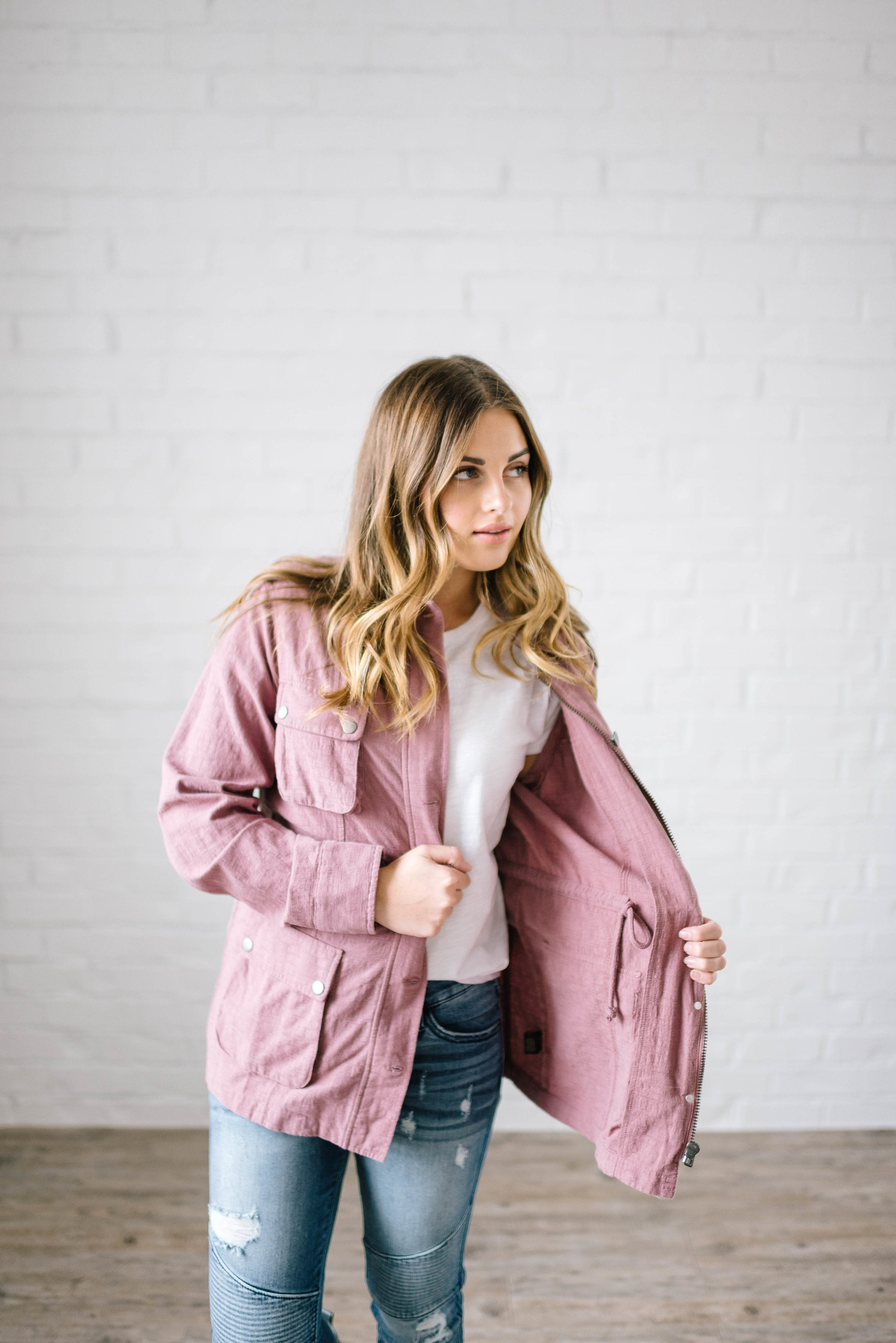 Easy Breezy Jacket in Mauve