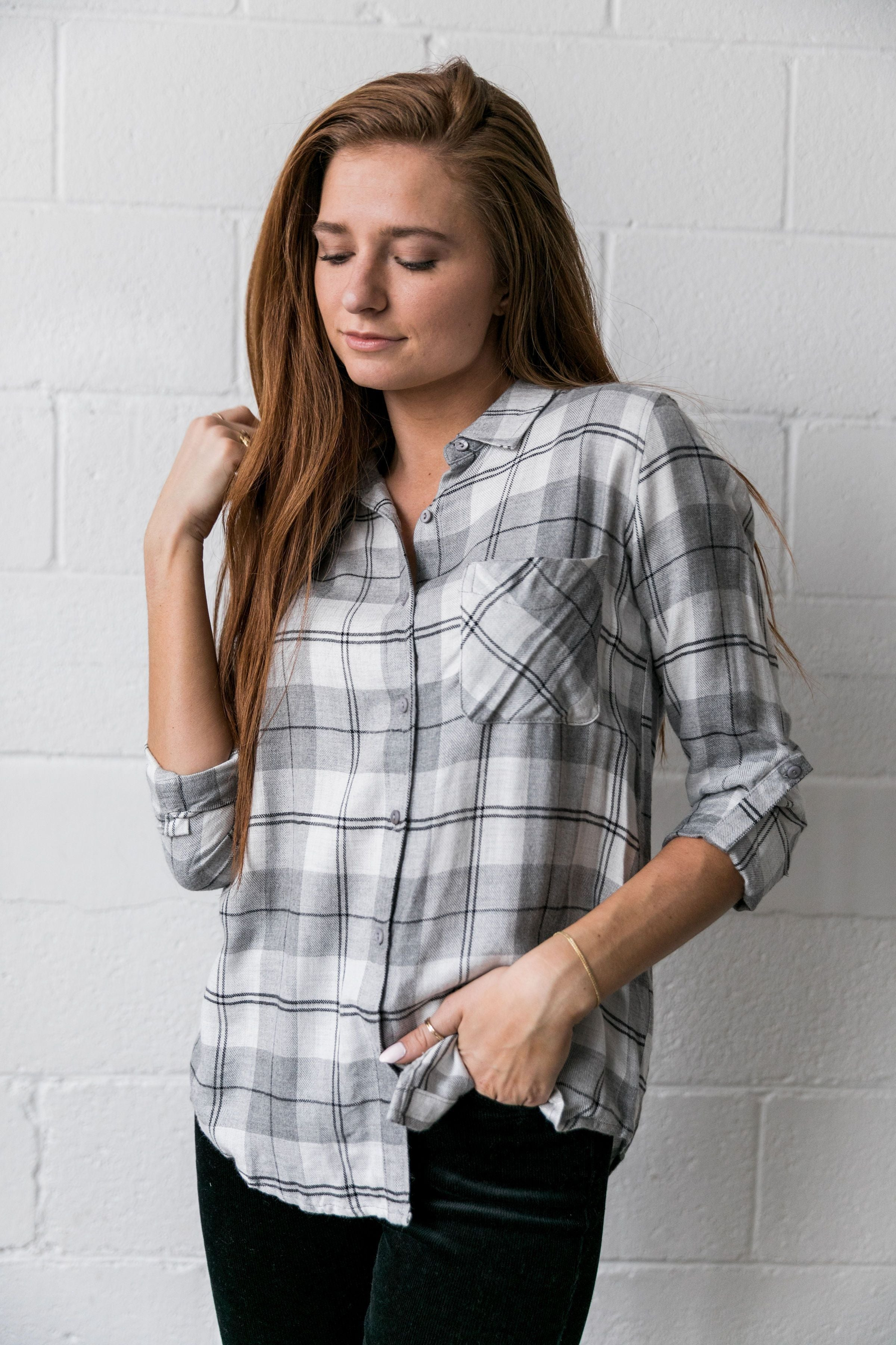 Easygoing Plaid Buttondown - ALL SALES FINAL