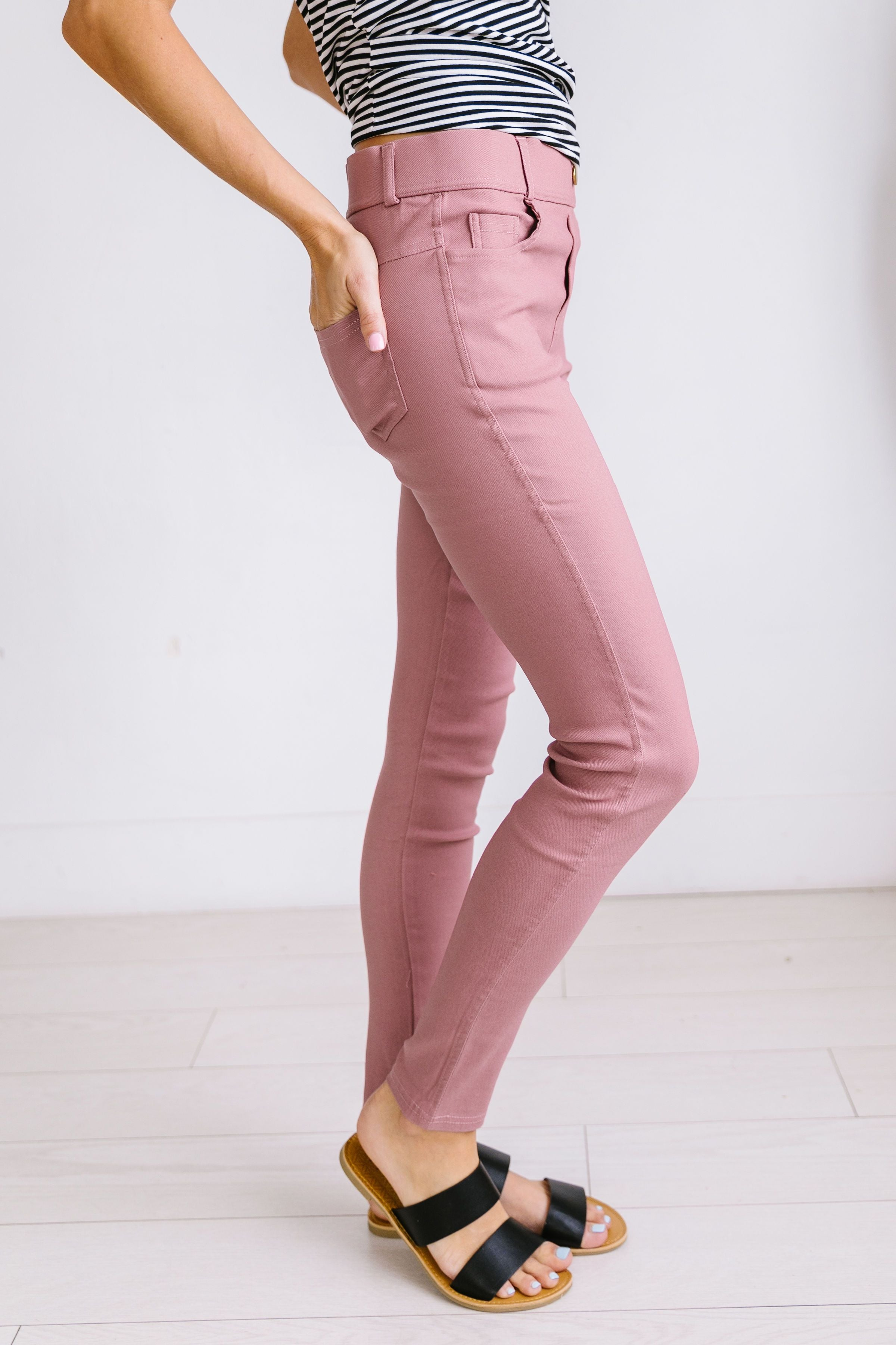 Everyday Colored Jeggings in Mauve