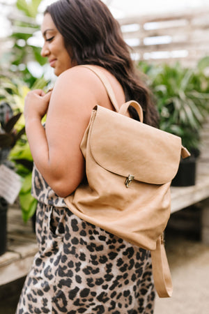 Girl On The Go Backpack In Camel