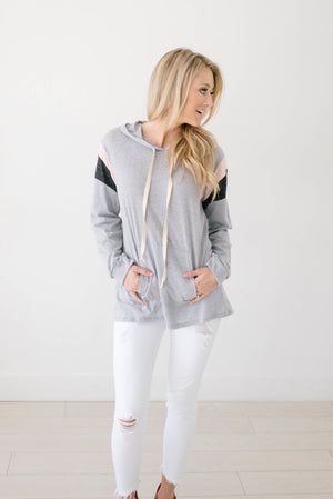 Heather Hoodie in Light Gray