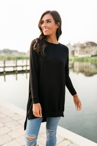 Lazy Day Tunic In Black
