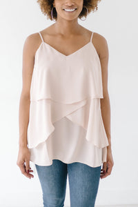 Lovely Layers Tank in Taupe
