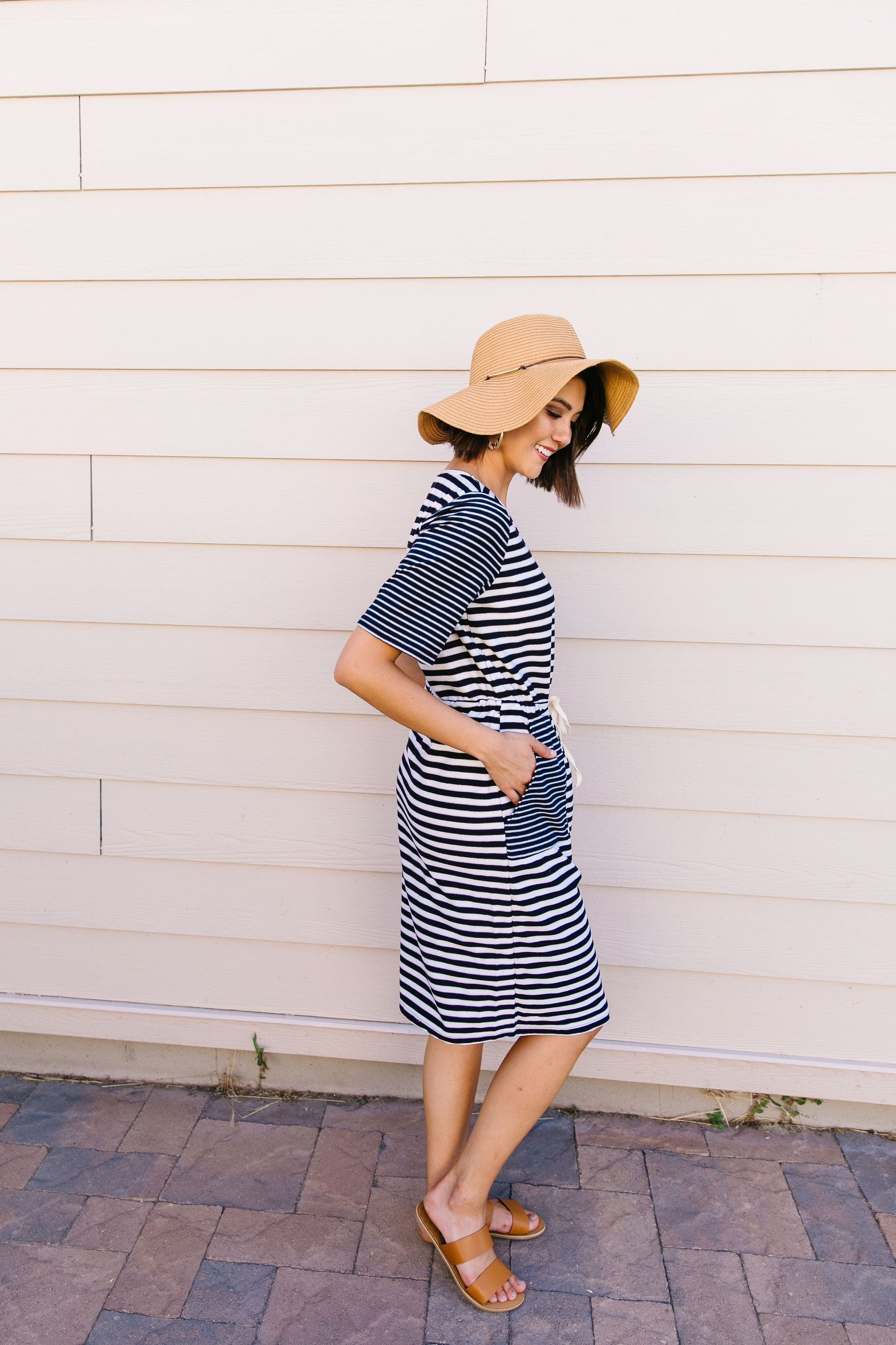 Madeline Striped T-Shirt Dress