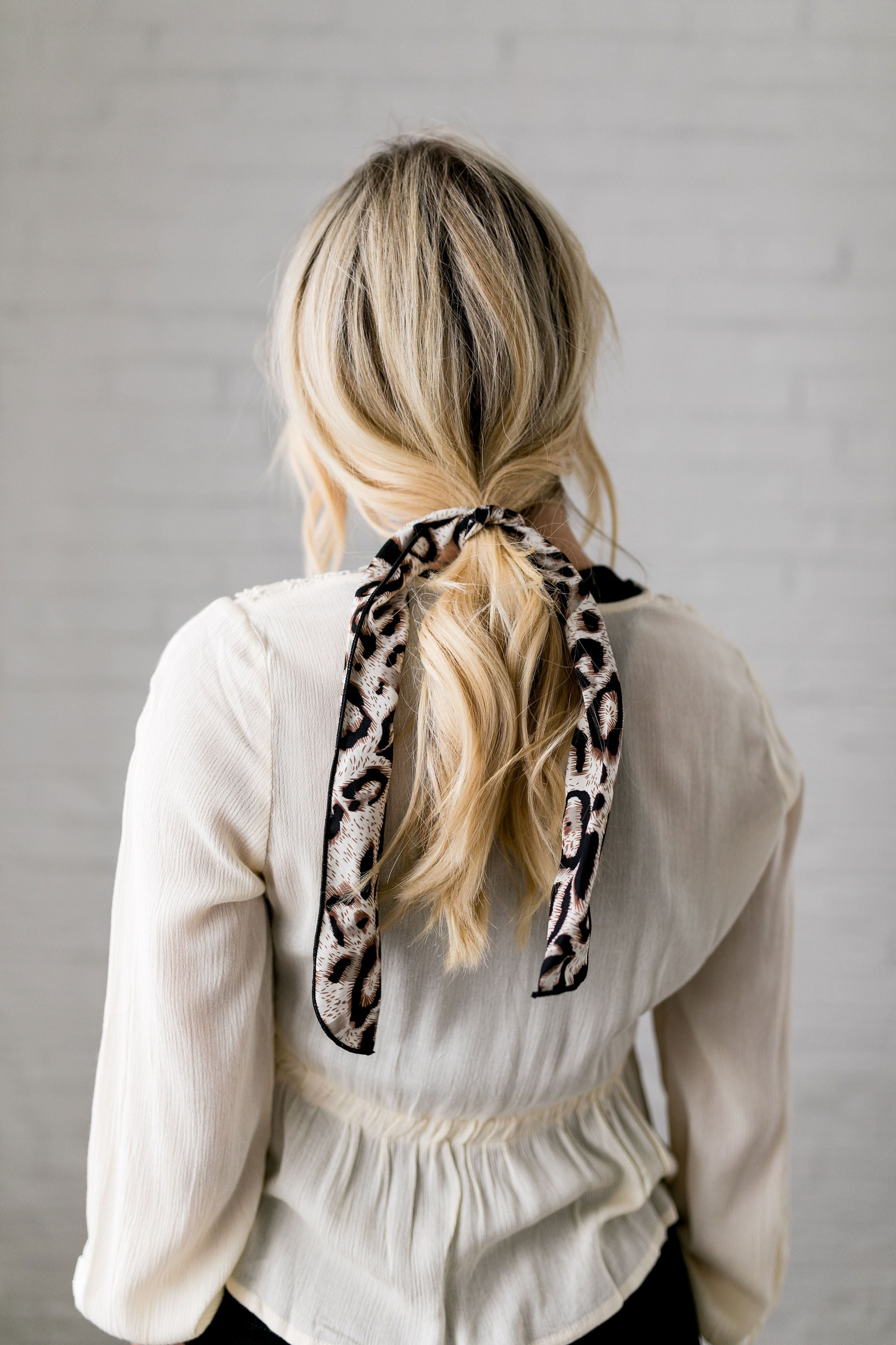Natural Look Leopard Hair Tie In Brown