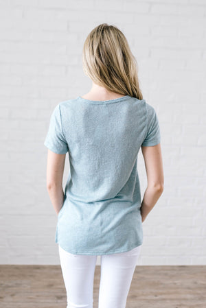 Not Your Basic Tee in Seafoam