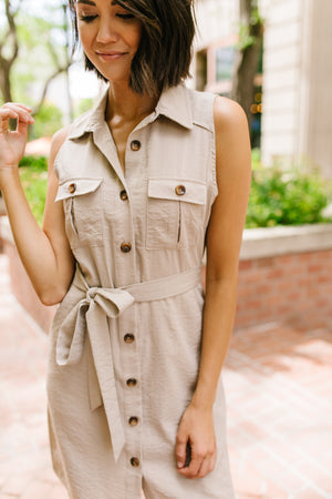 Out Of Africa Button-Down Dress