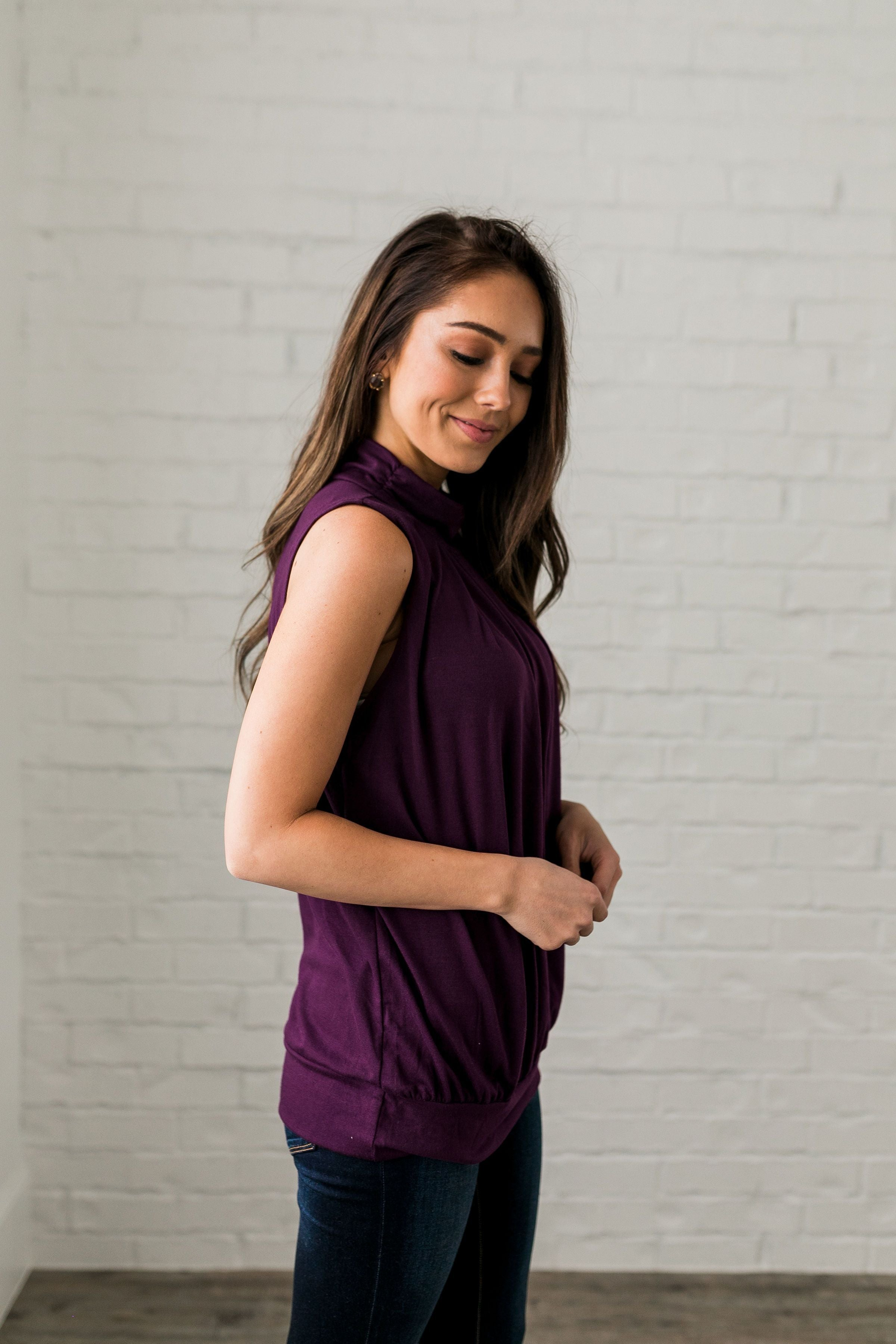 Pleats A Plenty In Plum - ALL SALES FINAL