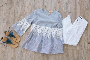 Pretty Poet Lace Top