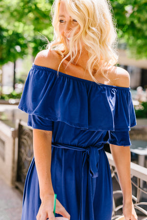 Romantic Ruffle Off Shoulder Dress