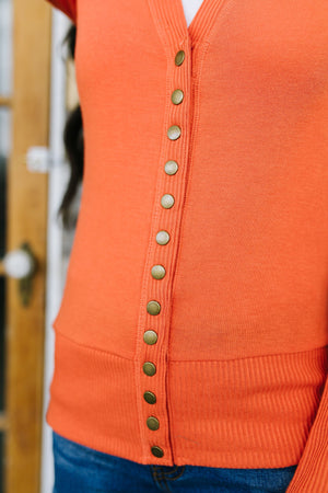 Snap Out Of It Cardigan in Copper