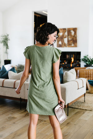 Stay Awhile Eyelet Dress