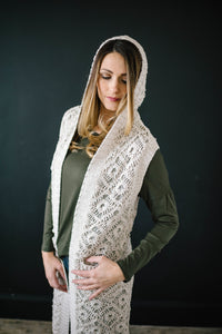 The Haley Hooded Sweater Vest in Oatmeal