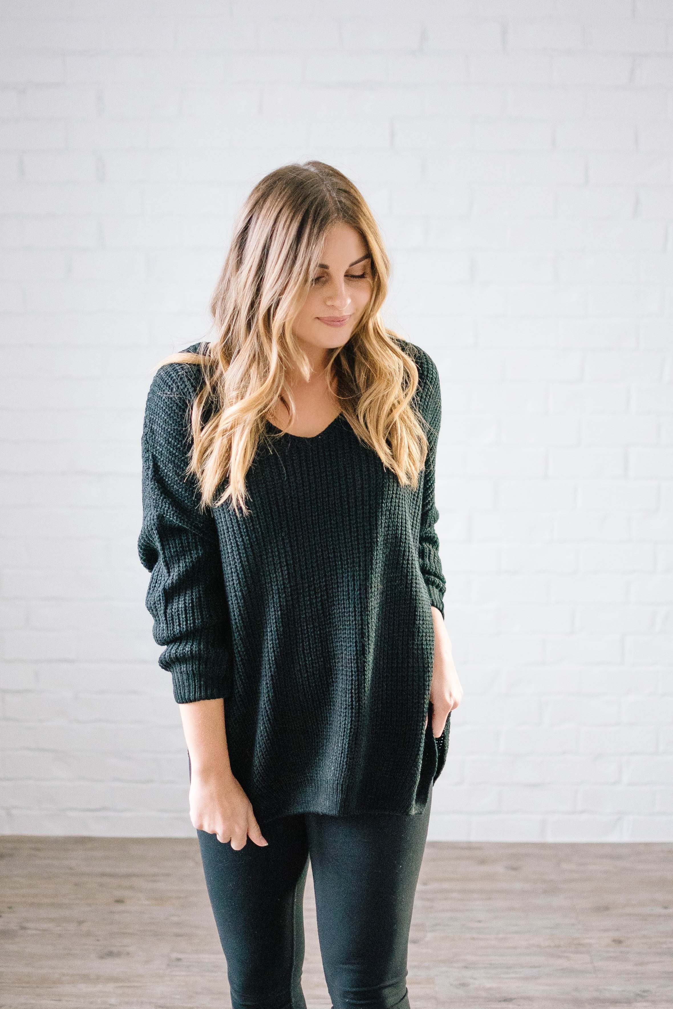 The Hayden Knit Sweater in Black