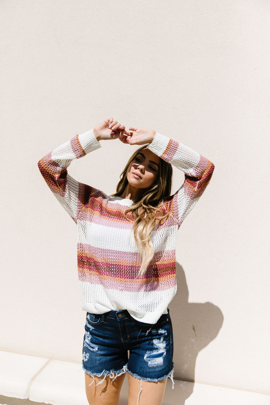 Warm Stripes Sheer Sweater