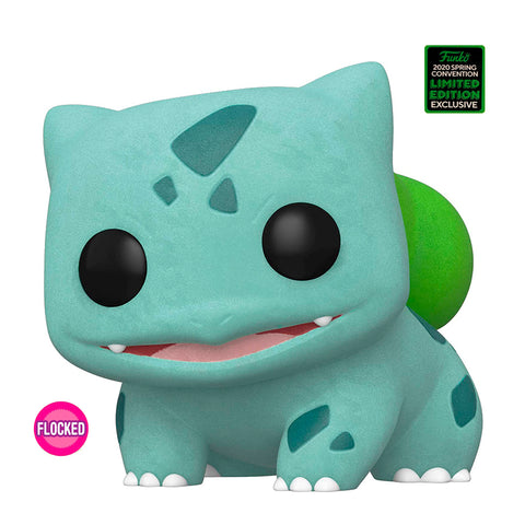 Funko POP! Exclusivo Pokémon: Bulbasaur (Flocked) #453