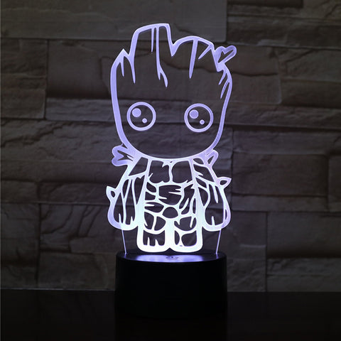 Lámpara Led Efecto 3D Baby Groot