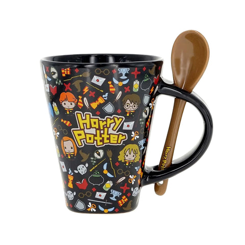 Taza Harry Potter con Cuchara 12oz