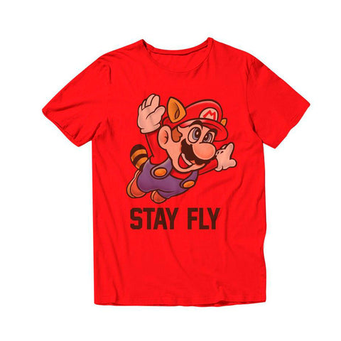 Camiseta Super Mario - Stay Fly