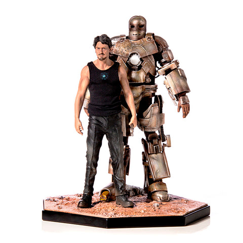 Estatua Iron Studios Iron Man Mark I & Tony Stark